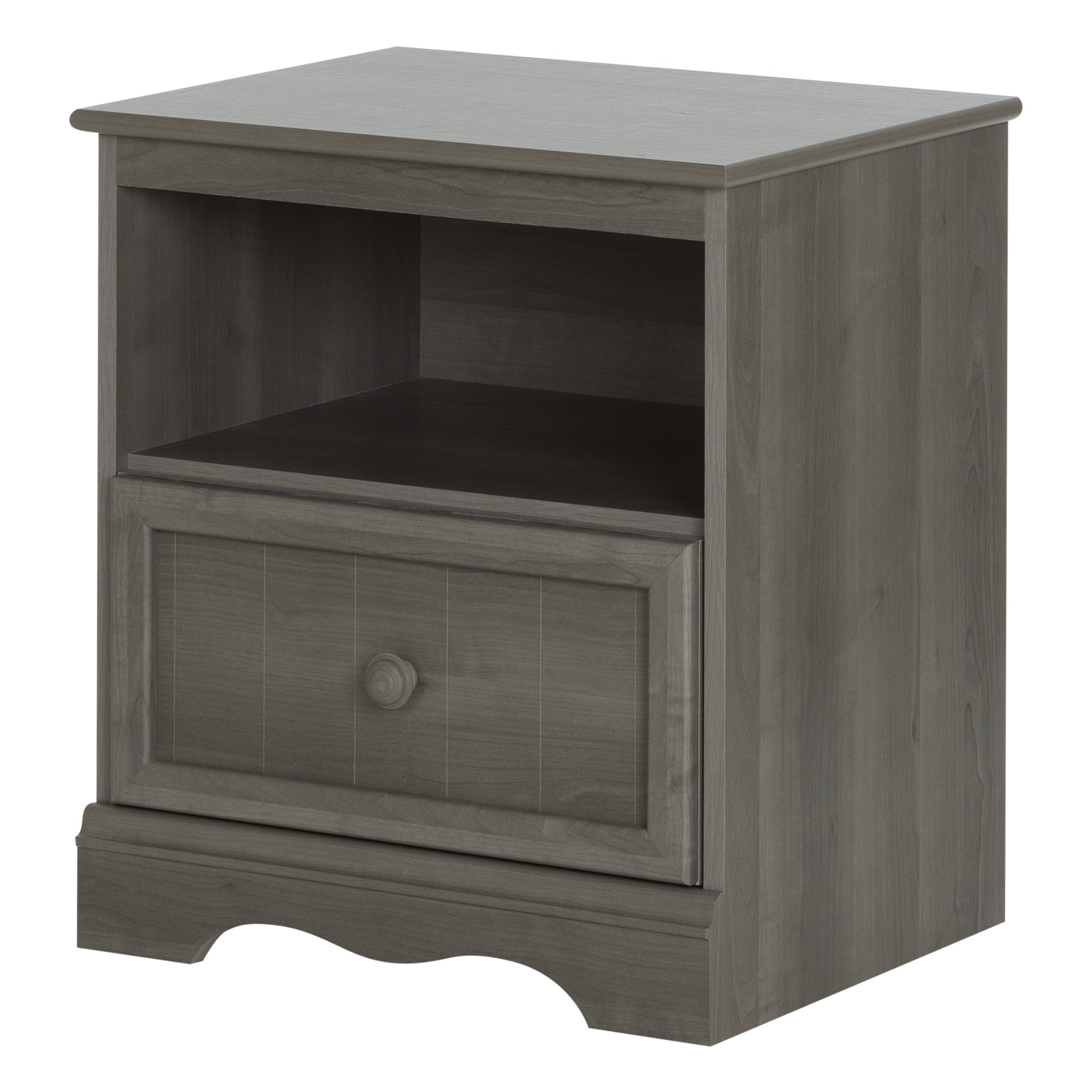 South Shore Savannah 1-Drawer Nightstand, Gray Maple by South Shore