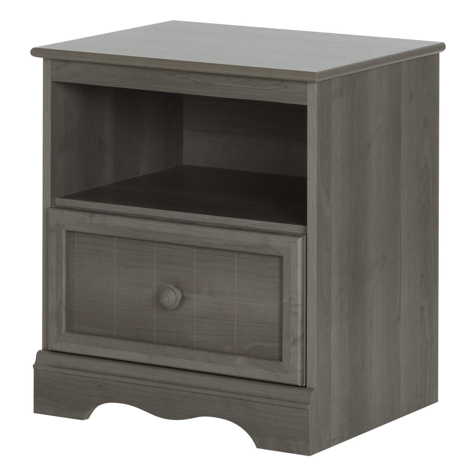 South Shore Savannah 1-Drawer Nightstand, Gray Maple