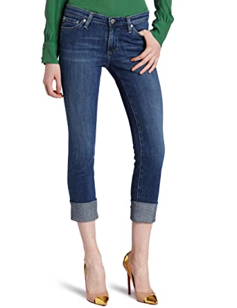 eaf615a1b0c Amazon.com: AG Adriano Goldschmied Women's Premiere Cuff Crop Jean ...
