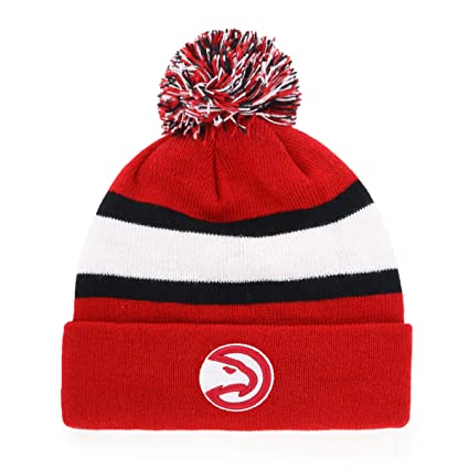 ddaefbd95 Amazon.com   OTS NBA Atlanta Hawks Male Rush Down Cuff Knit Cap with ...