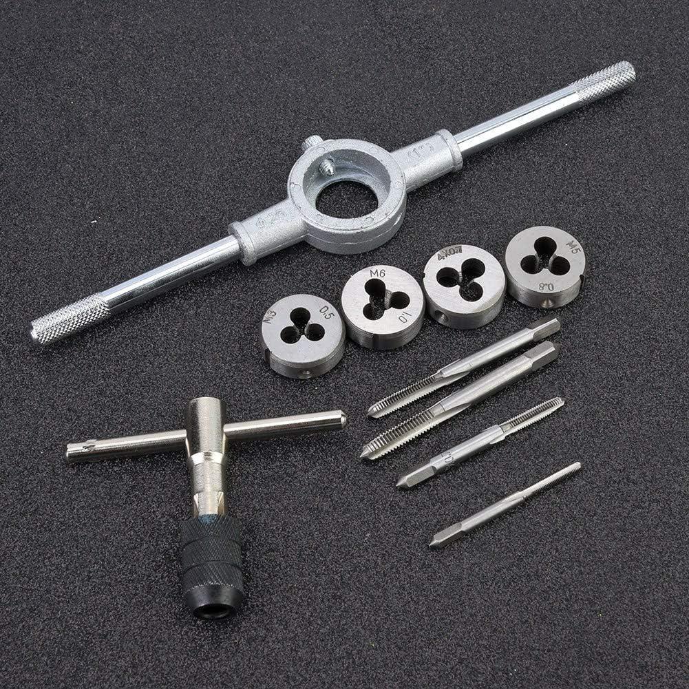 10pcs Metric Screw Tap Wrench Threading Dies Plugs Kit Handle Drift Holder Set Screw Tap Wrenches