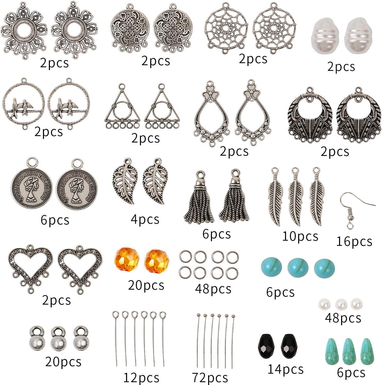 A Jewelry Making Supplies Kit Handmade Earrings DIY Making Set Jewelry Making and Repair Tool for Beginners