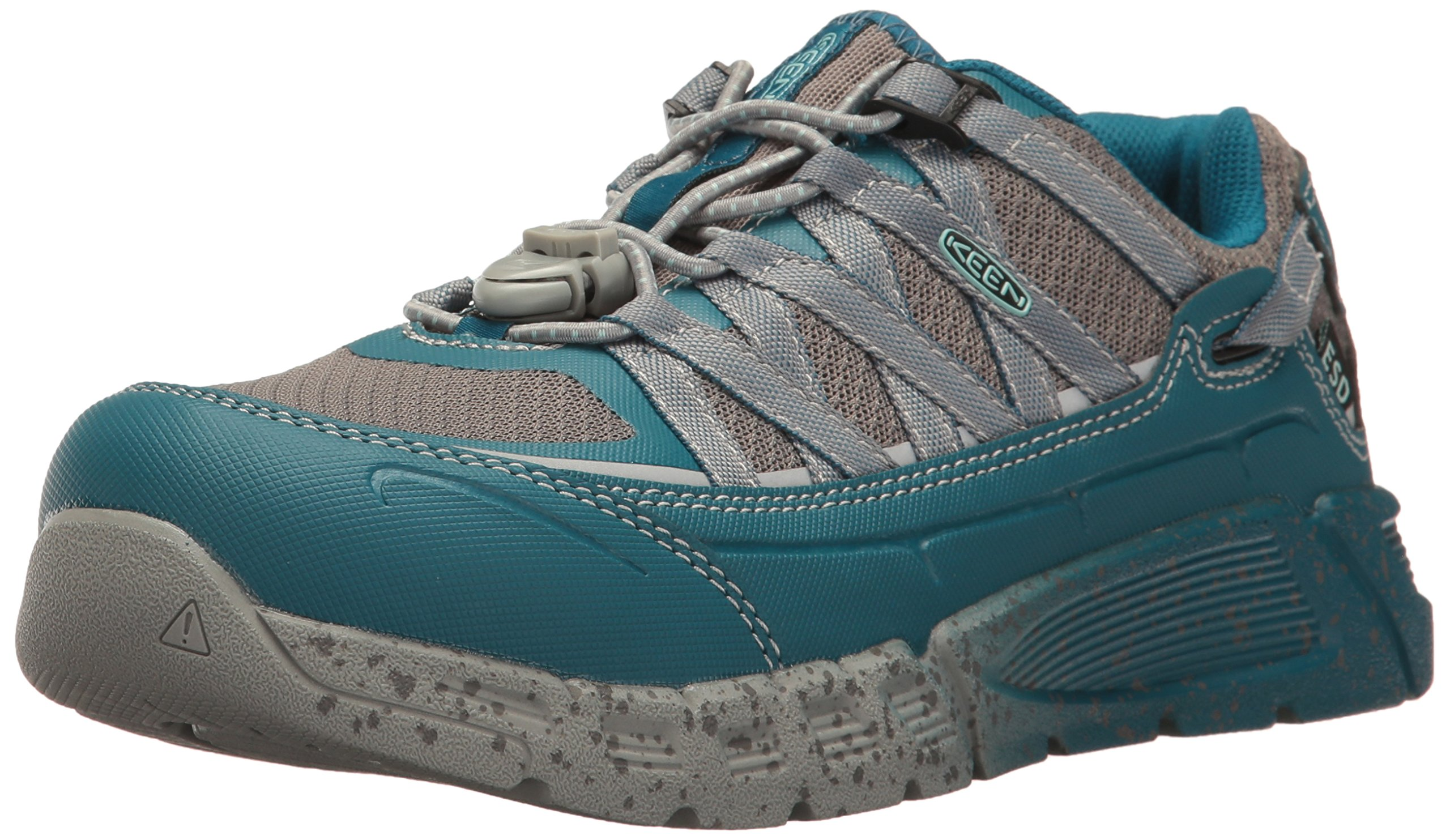 KEEN Utility Women's Asheville at ESD Industrial and Construction Shoe, Ink Blue/Eggshell Blue, 7 M US