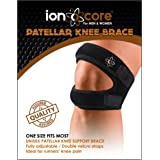 Knee Support Brace Patella Strap - ionocore® Patella Knee Strapping for Running, Jumping, Outdoors Sports and Pain Relief. (One Size - Neoprene)
