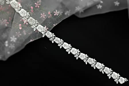 1 Yards Exquisite Beaded Venice lace Trim Embroidery Lace Trimming Lace Bridal Supplies 5.9 Inches Wide