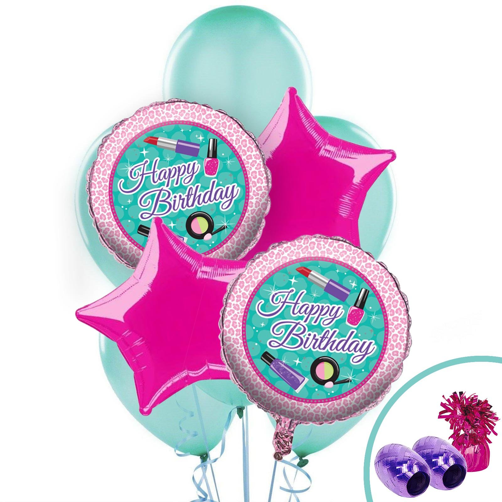 BirthdayExpress Spa Party Supplies Party Balloon Bouquet