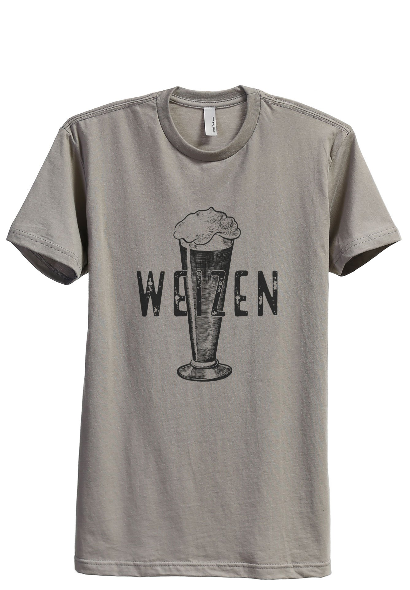 Thread Tank Weizen Glass Sketch Men's Modern Fit T-Shirt Printed Graphic Tee Military Grey Large