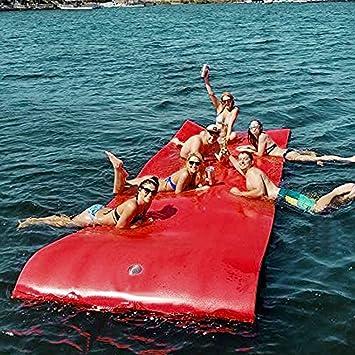 Moracle Colchoneta de Agua Flotante 12x6FT Almohadilla de Espuma ...