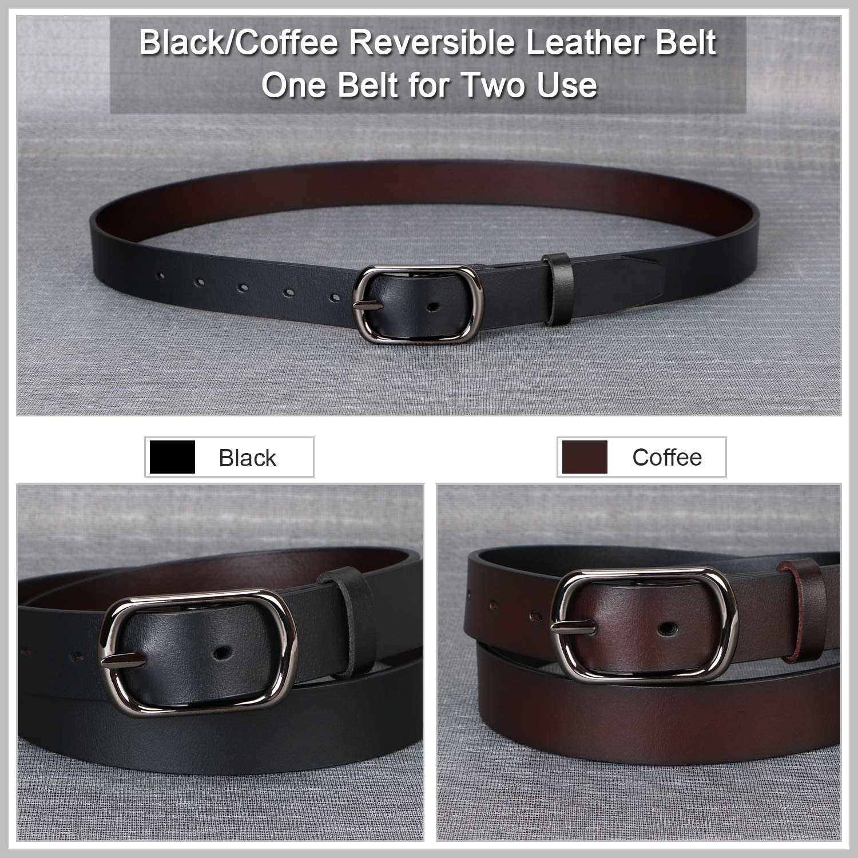 Cintura SUOSDEY Donna 02-reversible Black//Coffee vita 94//102 cm