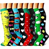CHARMKING Compression Socks 15-20 mmHg is BEST Graduated Athletic & Medical for Men & Women Running, Travel, Nurses, Pregnant - Boost Performance Blood Circulation & Recovery(Large/X-Large,Assorted19) (Color: 10 Yellow/Black/Blue/Black/Red/Black/Green/Black, Tamaño: Large/X-Large (US Women 8-15.5/US Men 8-14))