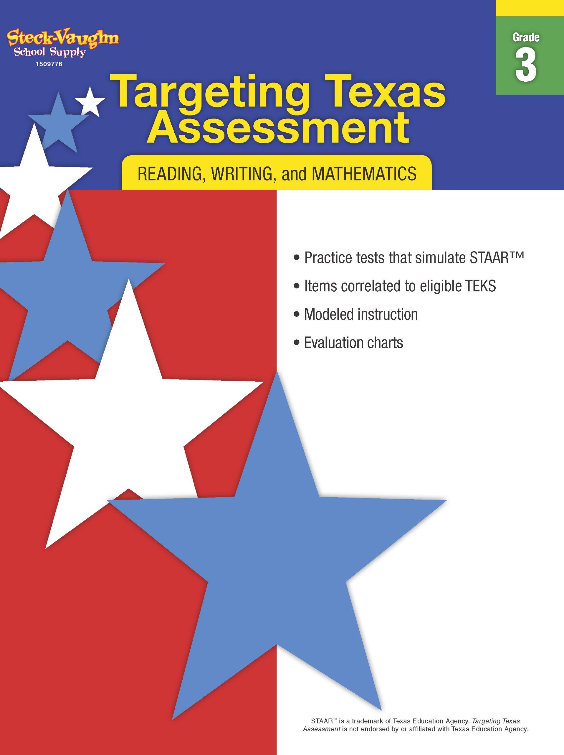 Read Online Targeting Texas Assessment: Reproducible Grade 3 PDF