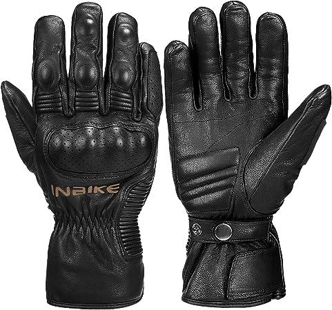 Inbike Motorrad Handschuhe Winter 100 Ziegenleder Motorradhandschuhe Mit 250g Thinsulate Sport Freizeit