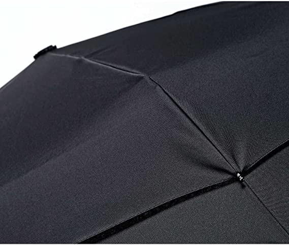 Becko 9-Rib Foldaway Auto Reflective Safety Travel Umbrella Secured Night Walk Super Wind Resistant Durable Auto Open Close /& Portable