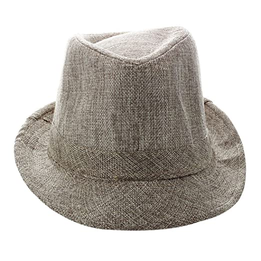 Image Unavailable. Image not available for. Color  SODIAL(R) Men Women  Unisex Summer Beach Hat Sun Jazz Panama Gangster Cap Trilby 679b7ad54c56