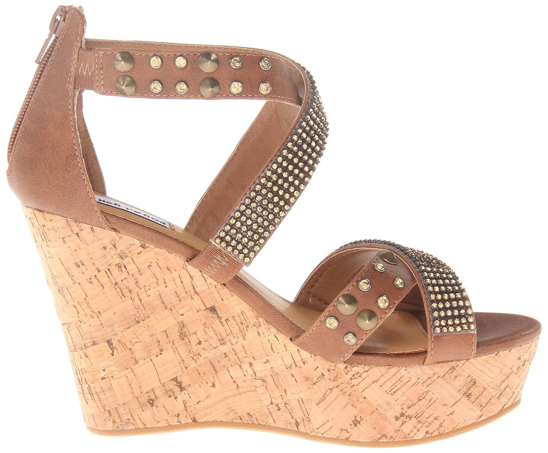 Not Rated B00GSIJ4YQ Women's Cant Get Enough Wedge Sandal B00GSIJ4YQ Rated 10 B(M) US|Tan 220409