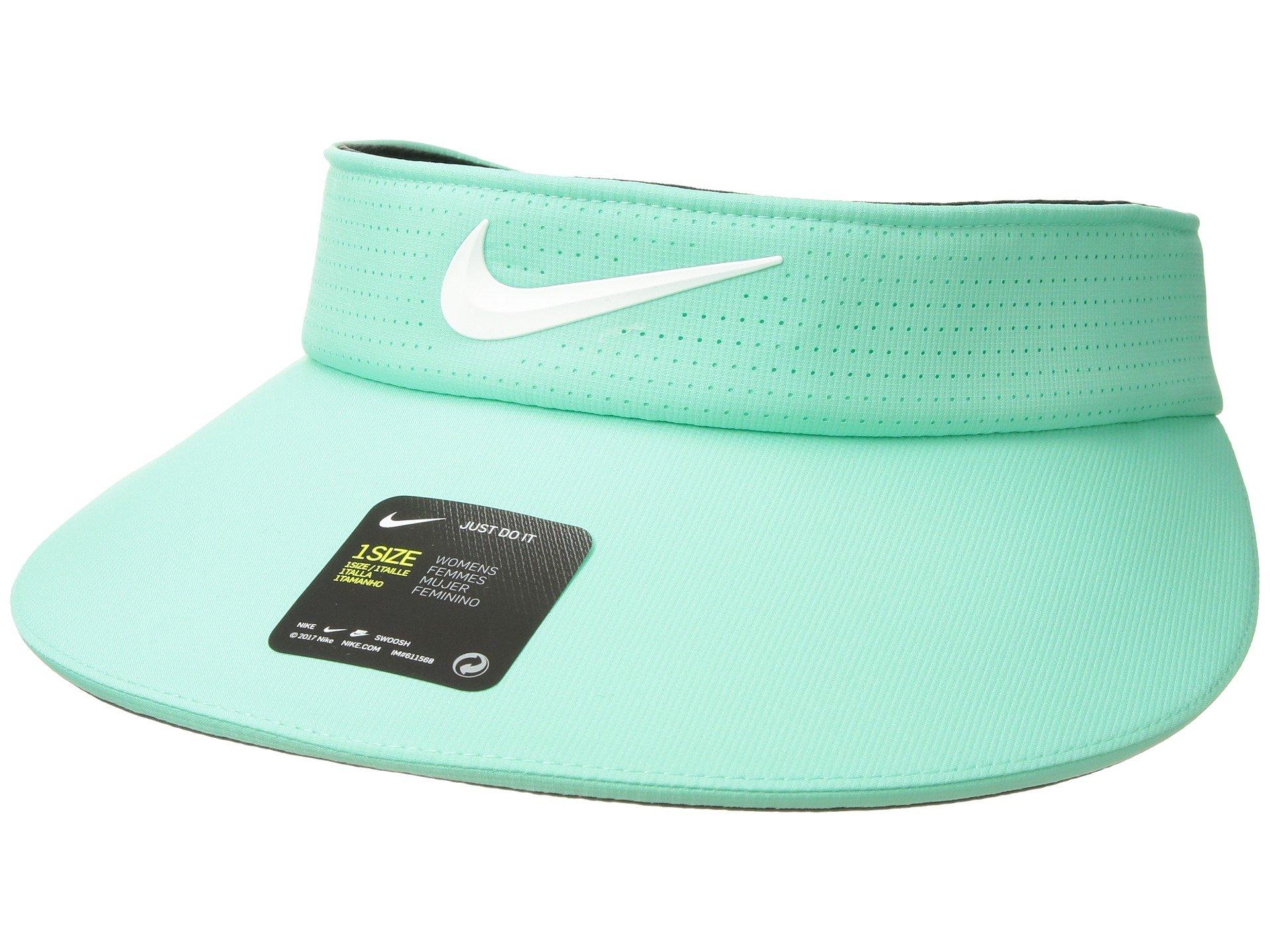 Nike Women`s AeroBill Big Bill Golf Visor (Light Green(892758-342)/White, One Size) by Nike
