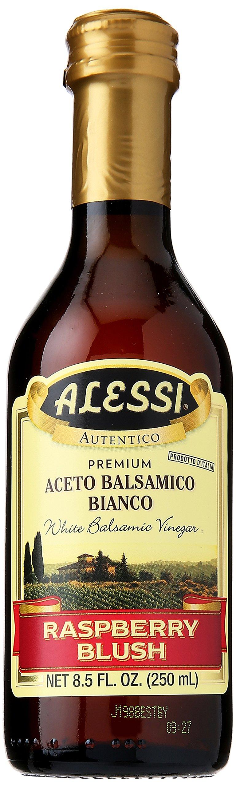 Alessi Foods White Balsamic Raspberry Blush Vinegar, 8.5 oz 1 Balsamic Vinaigrette Salad Dressings.