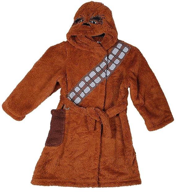 Star Wars Vestido Oficial de Chewbacca Bata Albornoz Albornoz para niños (7-8 Años