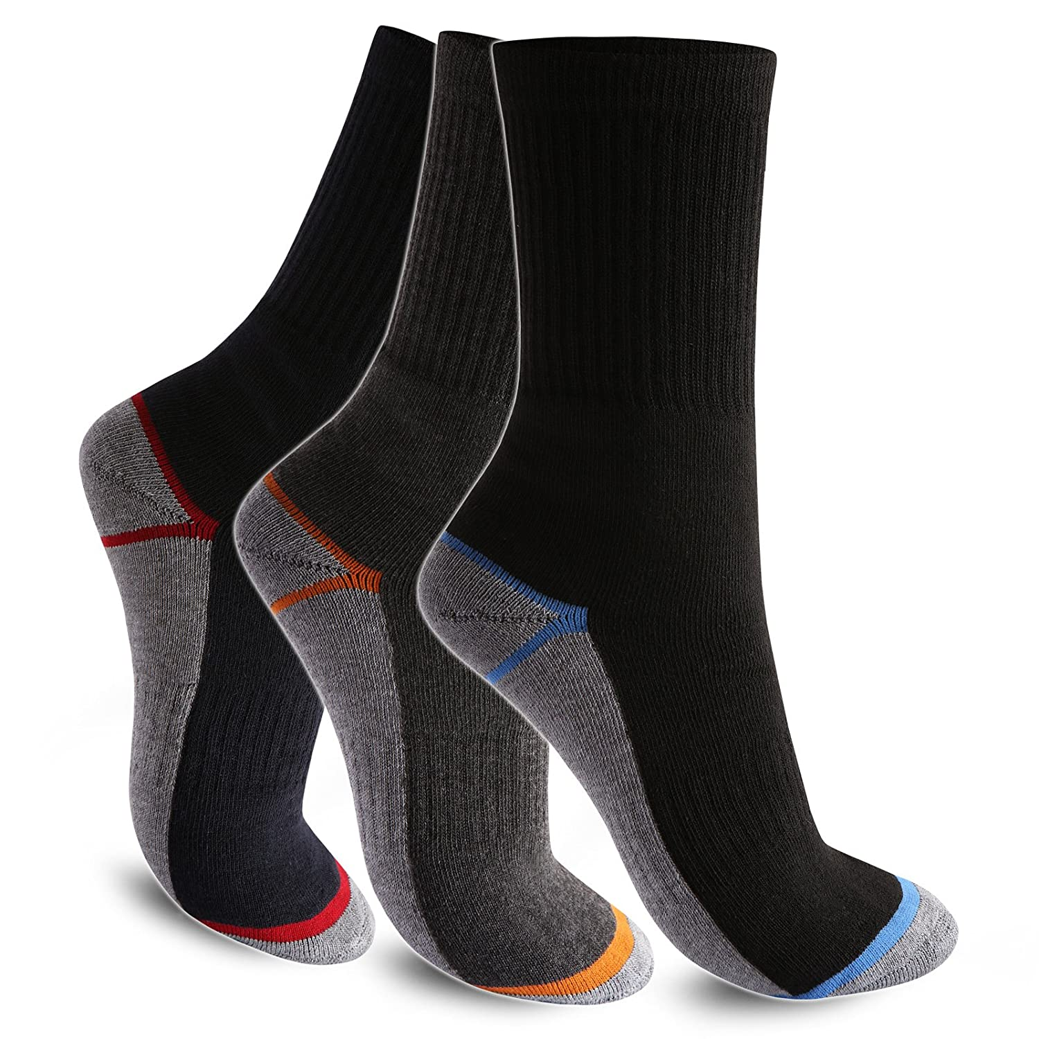 6-12-24 Paar Socken Thermosocken Warme Winter Sport Ski Arbeitssocken Herren