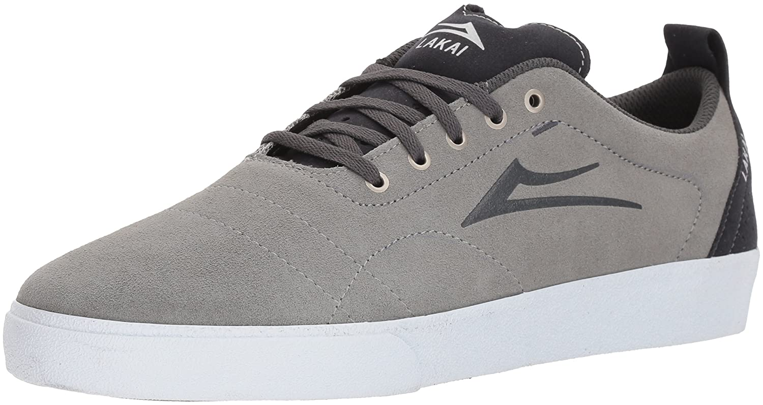 Lakai Limited Footwear Mens Bristol B073SNYFWL 8.5 M US|Light Grey/Charcoal Suede