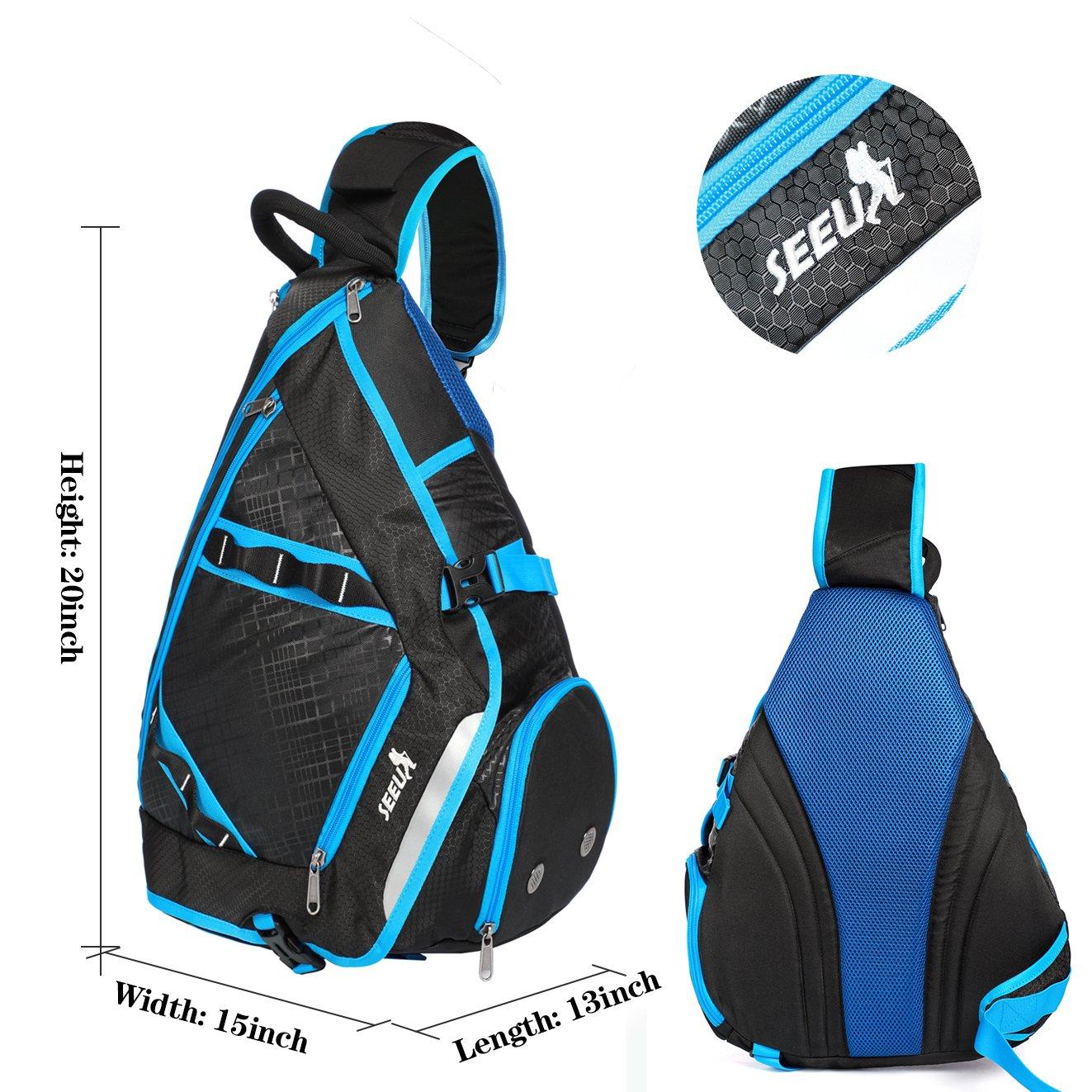 32L Oversized Sling Bag Backpack with Shoe Pocket SEEU Lightweight Gym Backpack