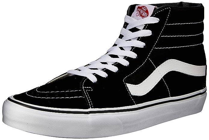 Vans Unisex-Erwachsene Sk8-hi Classic Suede/Canvas Sneaker Schwarz Größe EU 48