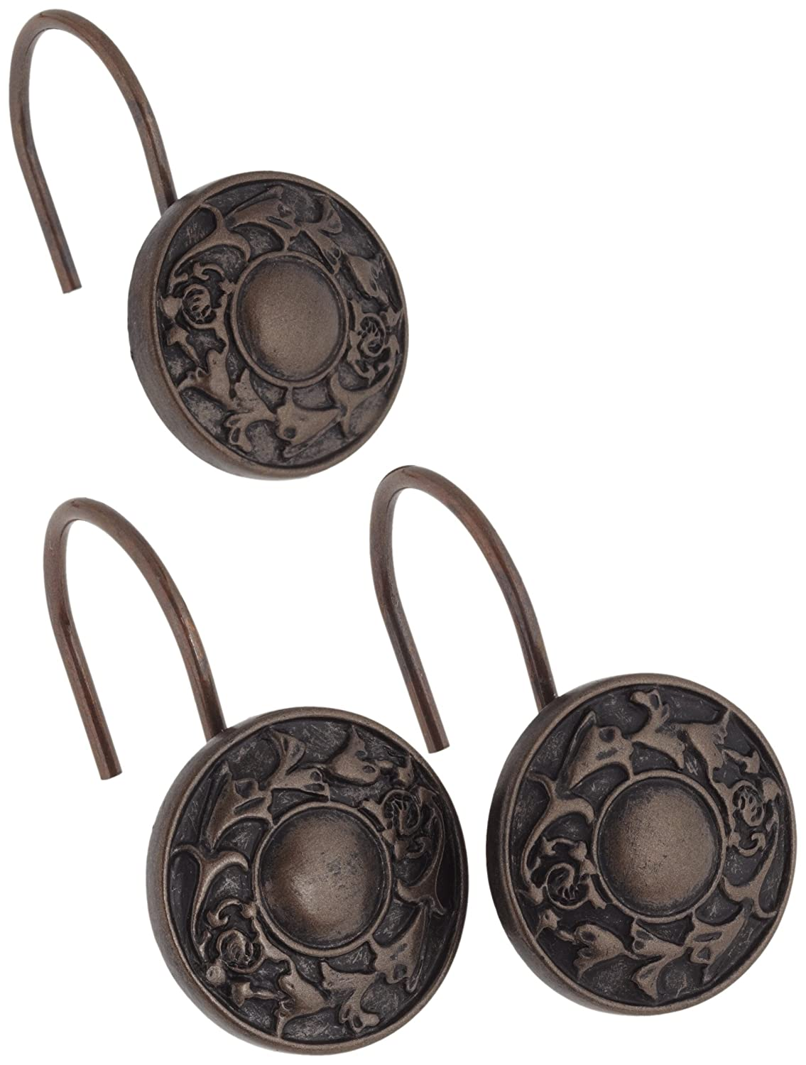 Carnation Home Fashions Regency Ceramic Resin Shower Curtain Hook Oil Rubbed Bronze