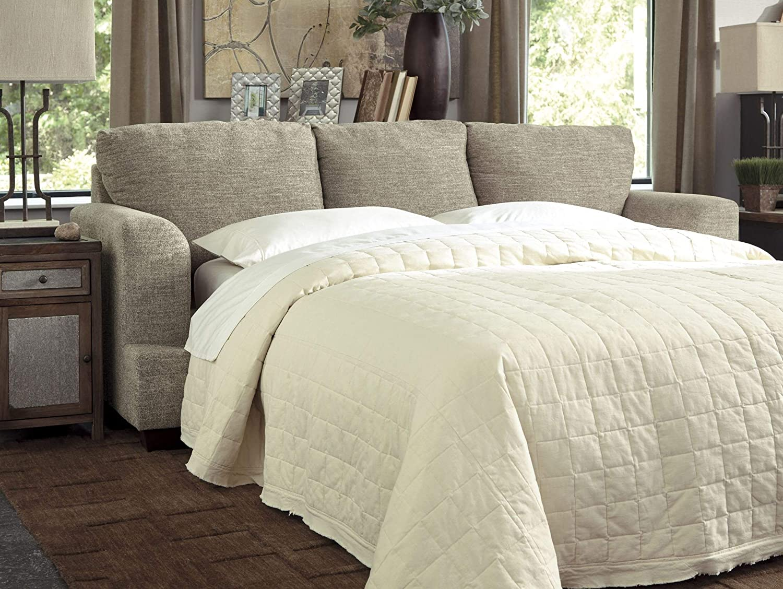 Benchcraft – Barrish Traditional Sofa Sleeper – Queen Size Mattress Included – Sisal