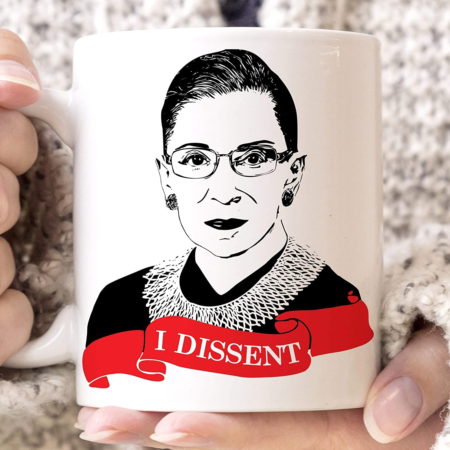 Ruth Bader Ginsburg I Dissent Coffee Mug Microwave Dishwasher Safe Ceramic RBG Cup Notorious RBG