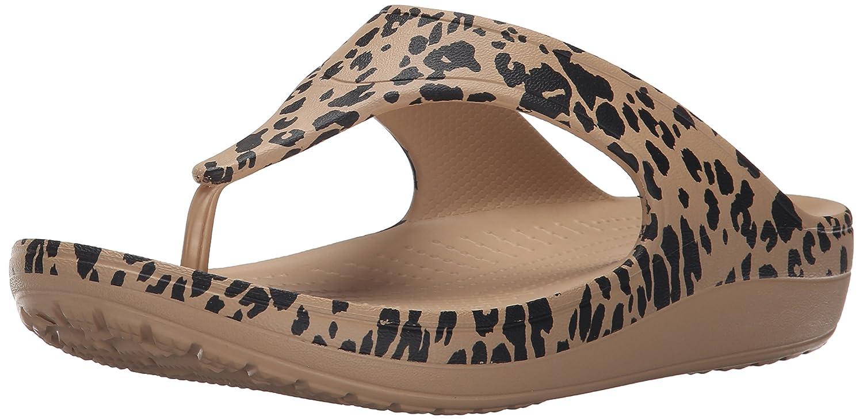 Crocs Sloane Leopard Flip W Sandali con Plateau e Zeppa, Donna, Oro (Gol),  36: Amazon.it: Scarpe e borse