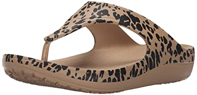 0fdbb7294425 crocs Women s Sloane Leopard Flip