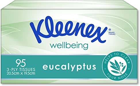 Kleenex Facial Special Care Tissues With Eucalyptus, 0.22kg, 1 Box of 95 tissues