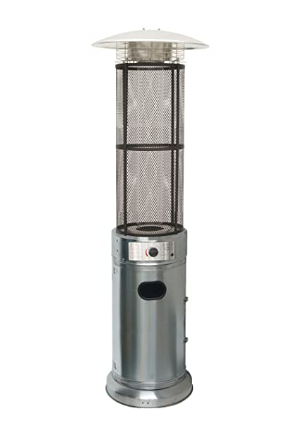 Beau Belleze Stainless Steel Circle Round Pyramid Outdoor Home Commercial Glass  Tube With Flames Heater Patio Heater