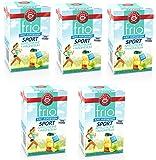Teekanne frio Tee Sport - Apfel + Zitrone und Magnesium, 5er Pack (5 x 45g)