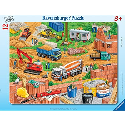 Ravensburger -Work at The Construction Site - Jigsaw Puzzle for Kids – Every Piece is Unique, Pieces Fit Together Perfectly: Toys & Games
