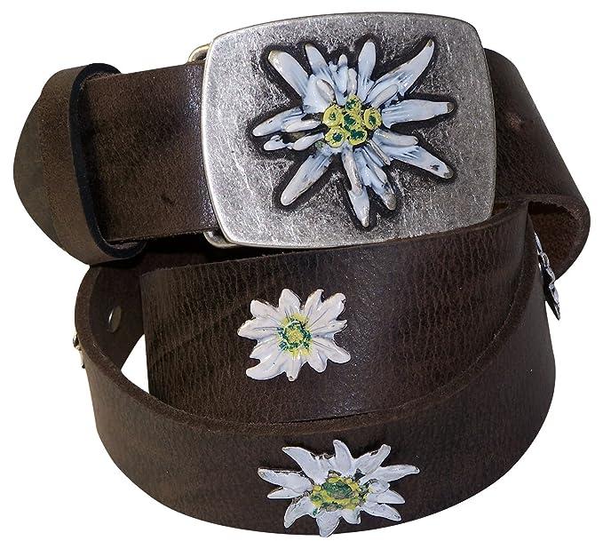 FRONHOFER cinturón para traje regional de señora, edelweiss ...