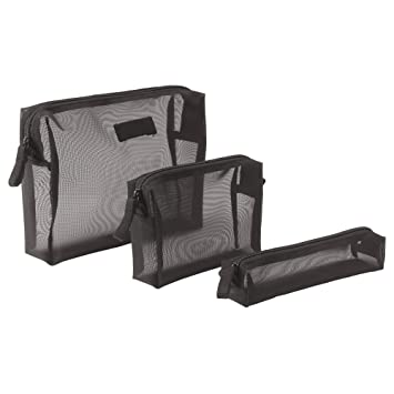 IKEA Toiletry Bag Case Organizer Förfina 3er Set in 2 Colours Black Black 6f4c9e577d56a