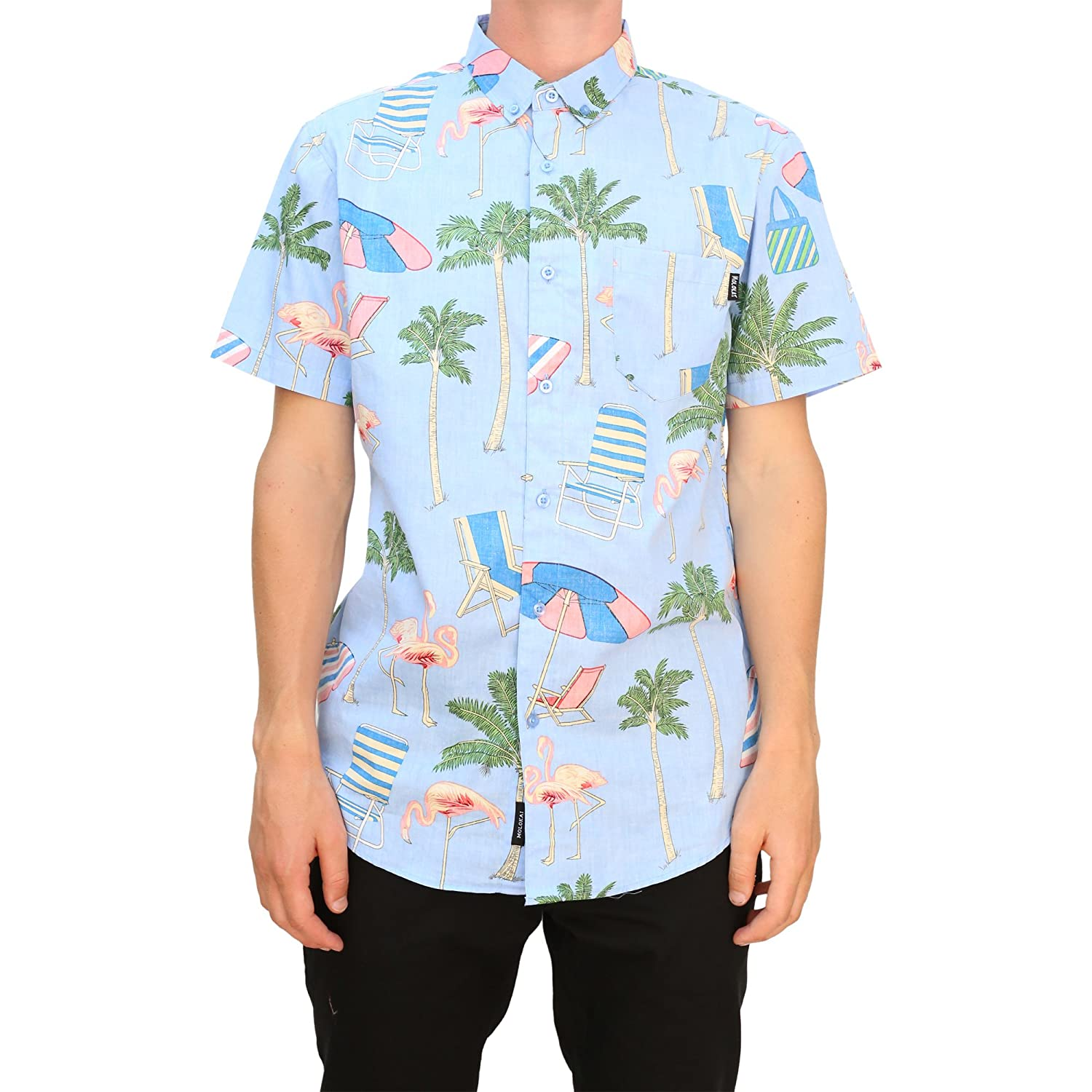 61bee489 Molokai Printed Short Sleeve Hawaiian Button Down Shirt For Mens