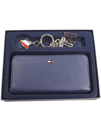 40981a2009d7d Tommy Hilfiger Damen Geldbörse Portemonnaies Basic Leather Gift Set Leder  Blau