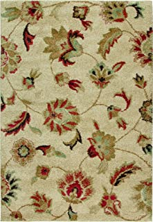 "product image for Orian Rugs Plush Floral London Beige Runner (2'3"" x 8')"