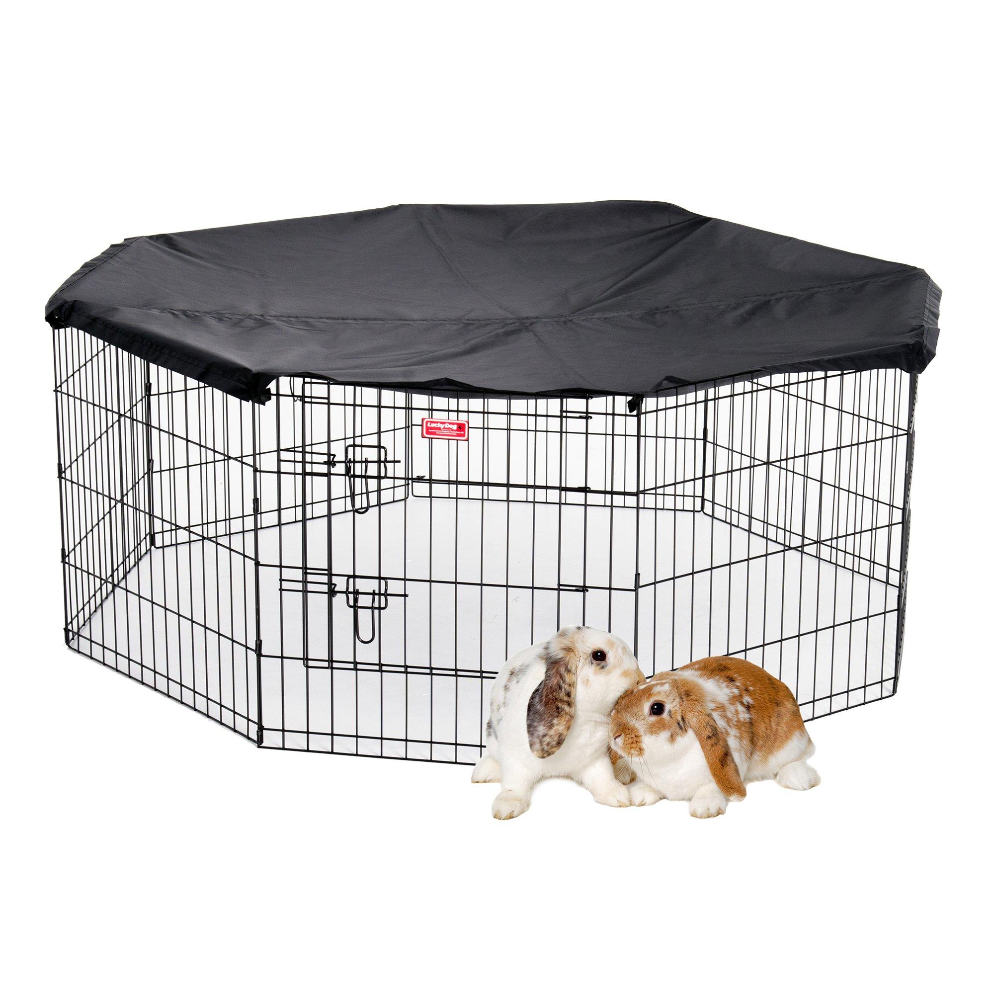 Lucky Dog ZW 12624 Pet Kennel, 24'' x 6', Black