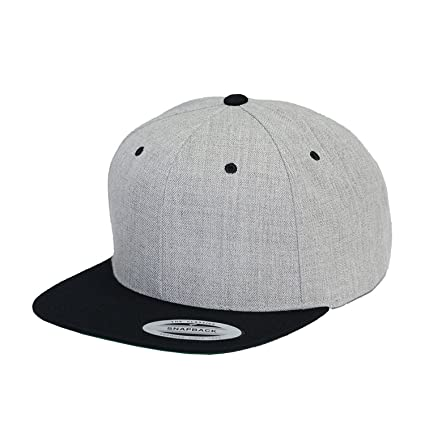 127aa914595 Yupoong Premium Classic Snapback Cap 2-Tone 6089MT by Flexfit (Heather Black)   Amazon.ca  Luggage   Bags