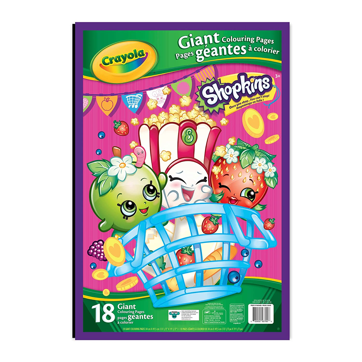 Crayola giant colouring pages shopkins gifting drawing sketch pads amazon canada