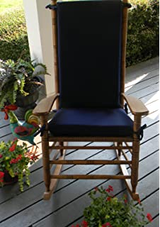 Indoor / Outdoor Solid Color Rocking Chair 2 Pc Foam Cushion Set ~ Fits  Cracker Barrel