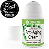 Anti Aging Cream & Daily Moisturizer for Face Enriched with Collagen Boosting Peptides, Hyaluronic Acid & Organic Aloe. Facial Wrinkle & Fine Line Reducer. Hydrating, Skin Tightening All Natural 50ml