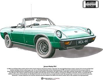 Amazon.com: Jensen-Healey Mk1 Arte Cartel Tamaño A3: Home ...