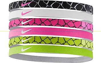 Nike Printed Headbands Assorted 6 Pack BLK-WHT WHT-PNK PNK-BLK VLT ... e2374bd0a5c