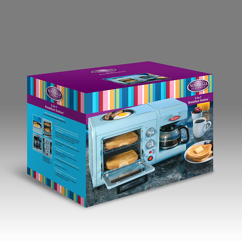 Amazon.com: Nostalgia Electrics BSET-100BLUE Retro Series 3-in-1 ...