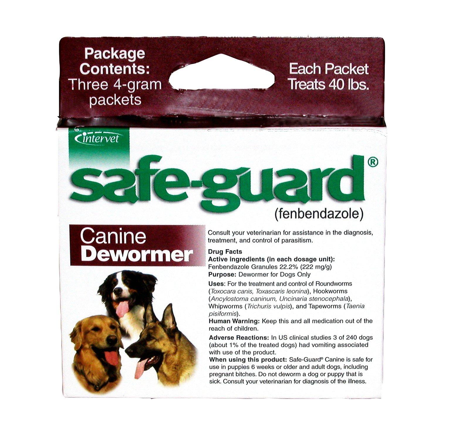 Merck Animal Health Safe-Guard Canine Dewormer, 4 gm