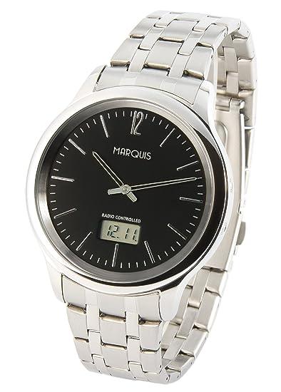 Reloj de hombre elegante Marqués (Junghans-negras) caja y brazalete de acero inoxidable 964.4104: Amazon.es: Relojes